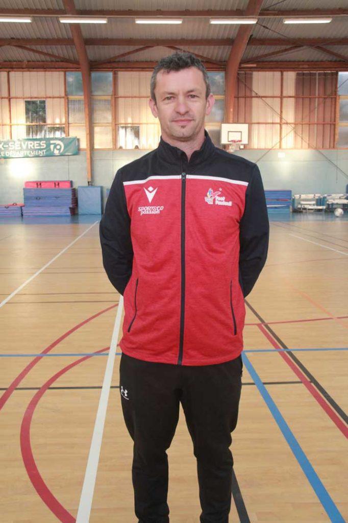 David Vergé, entraîneur de l'équipe de France de foot fauteuil.