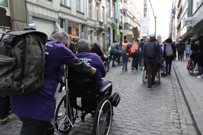 Photo:© Dans la Marche pour la liberté organisée le 2 octobre 2019 à Bruxelles par l'Enil. Beaview - Pierre-Olivier Chaput